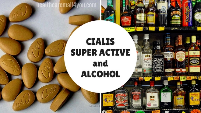 Alcohol and cialis